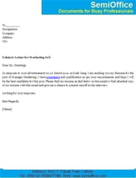 Example email with cover letter and resume attached